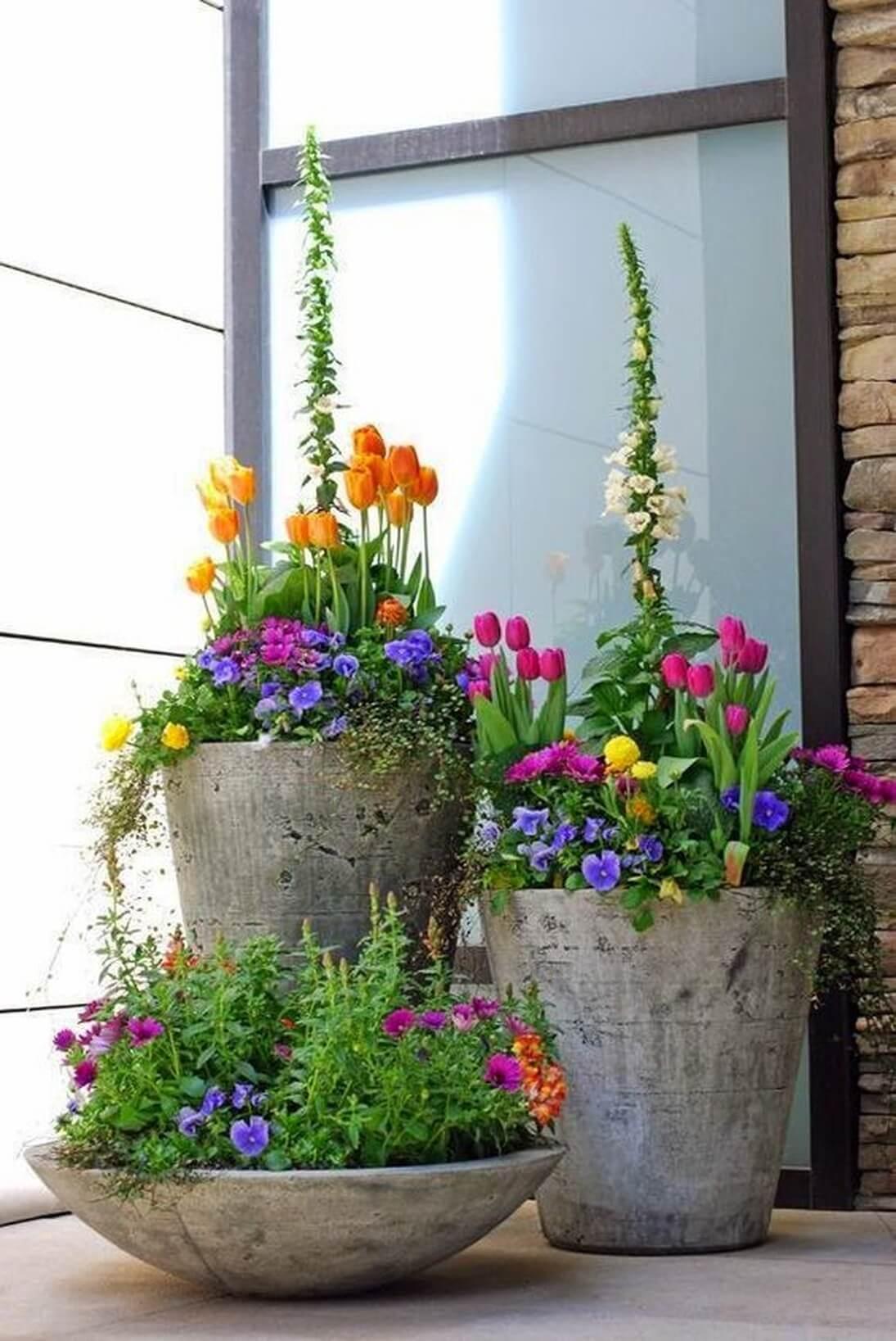 Front Porch Flower Arrangements Porches Ideas