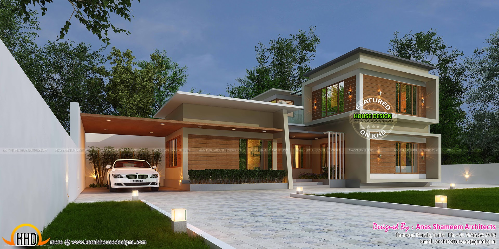 3420 Sq Ft True Contemporary Home Kerala Home Design Bloglovin With  Measurements 1920 X 960