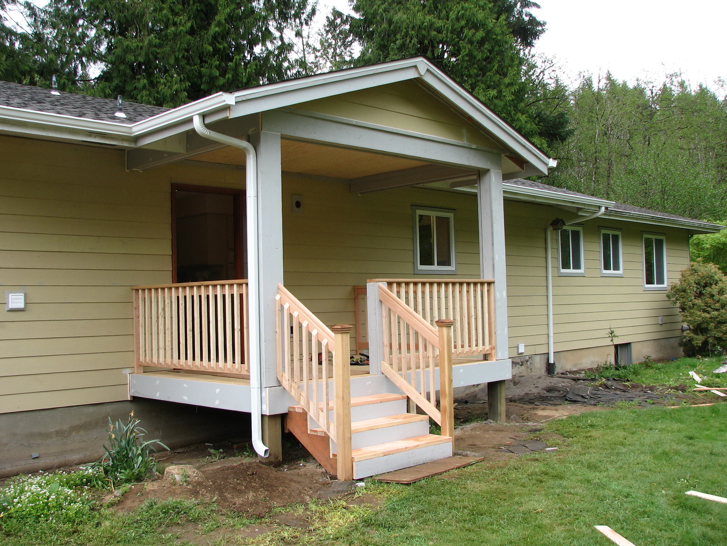 Adding Front Porch Gable Roof Porches Ideas