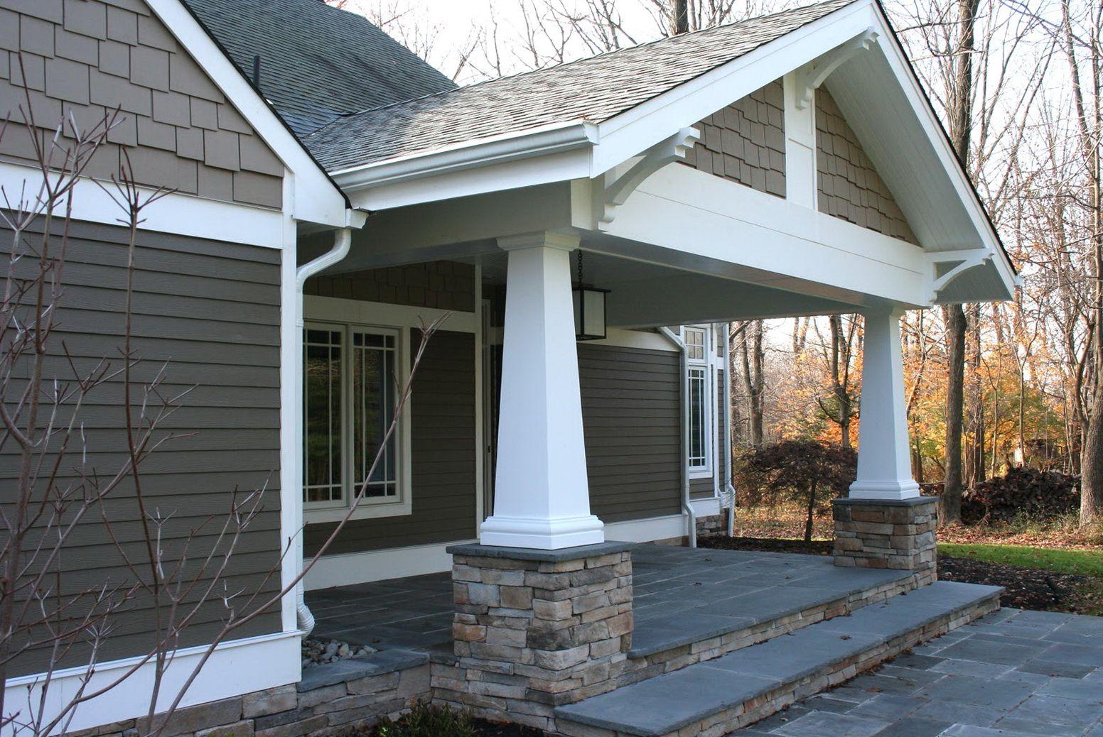 Craftsman Style Front Porch Columns Porches Ideas