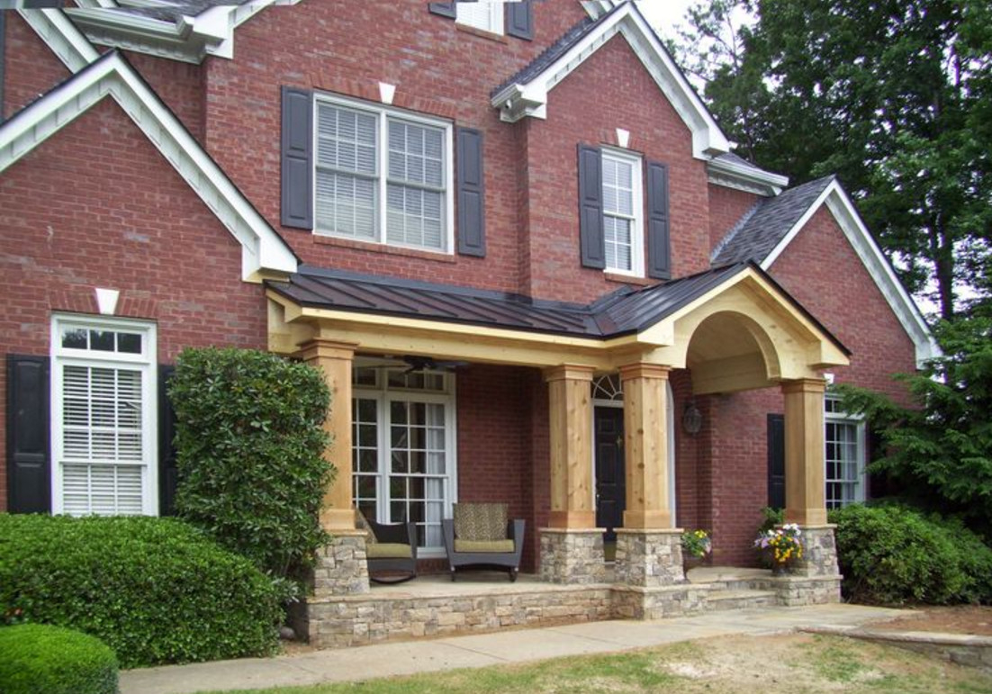 Add Front Porch To Brick House
