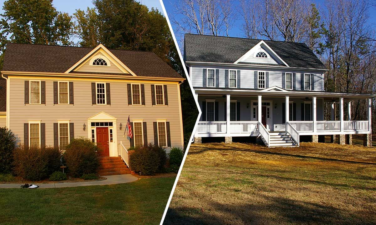 Front Porch To A Colonial Style