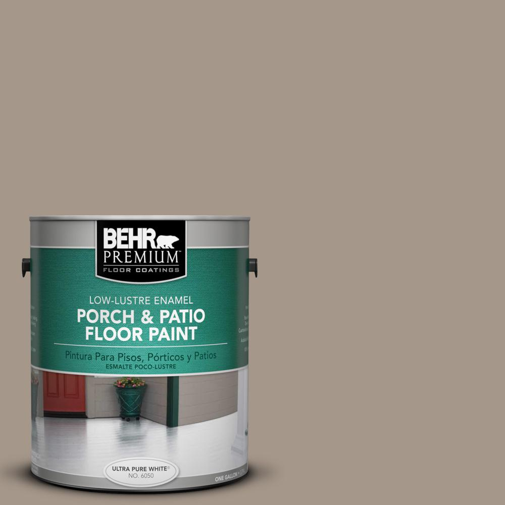 Behr Premium 1 Gal Ppu5 7 Studio Taupe Low Lustre Porch And Patio With  Regard To