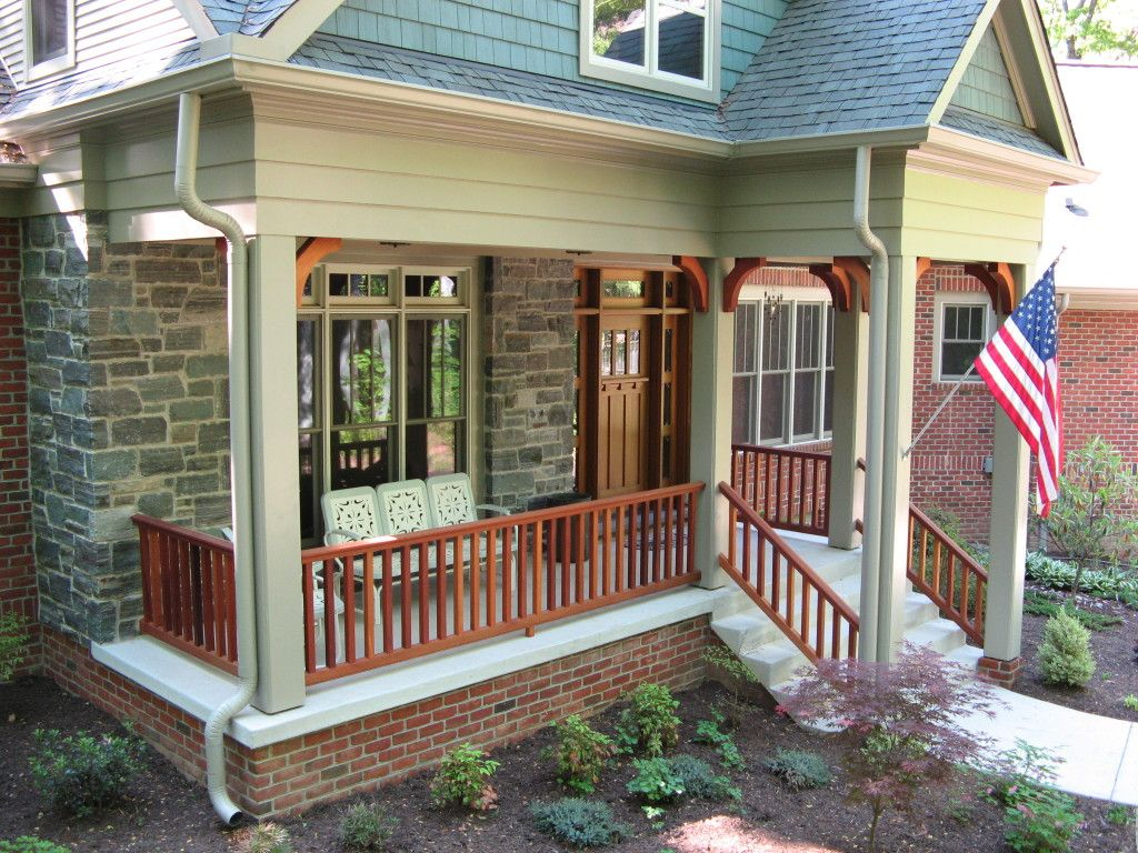 Crastman Style Porches Front Porch Porch Railing Craftsman Style With  Sizing 1024 X 768