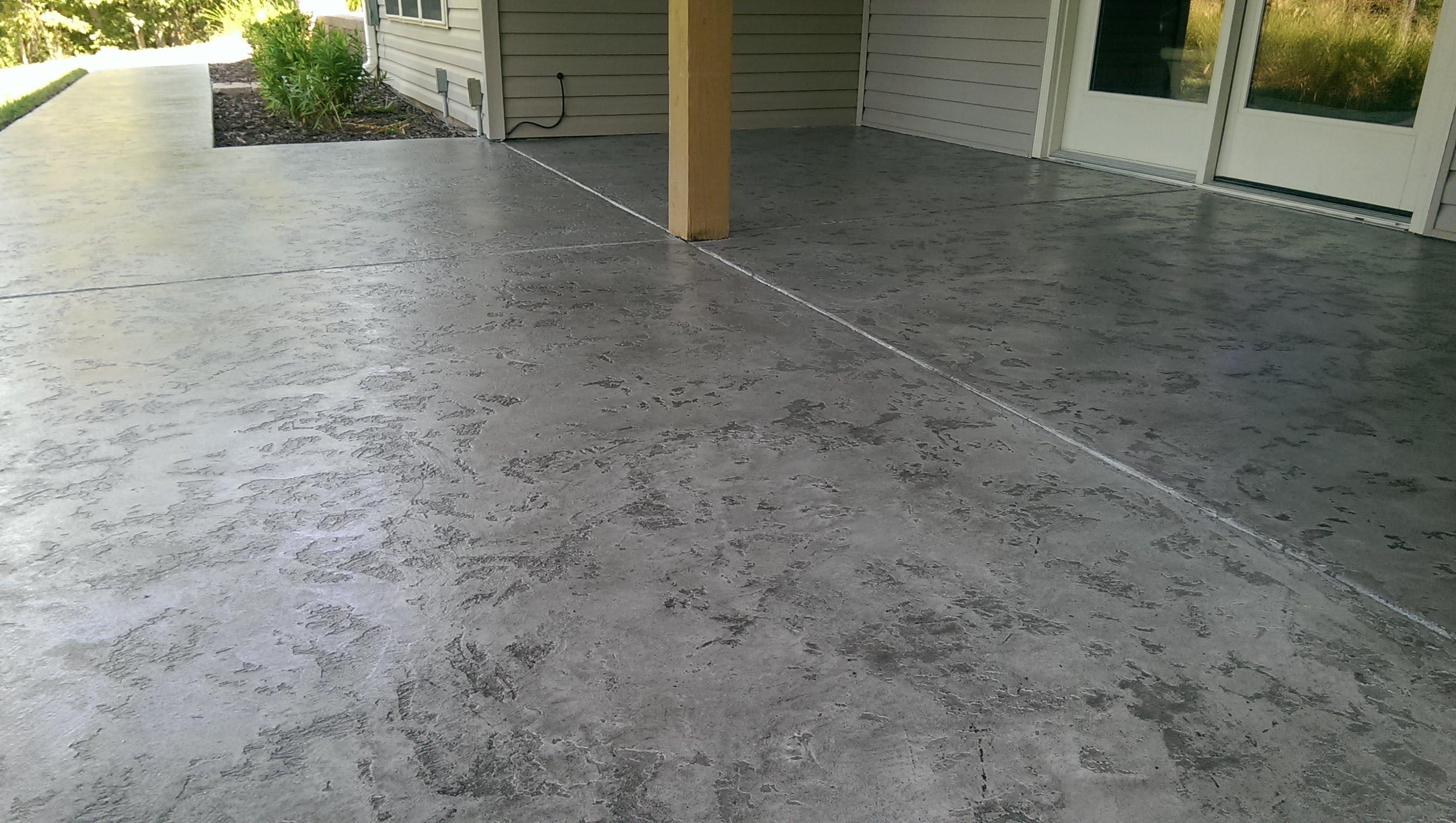 Acid Staining Concrete Porch Porches