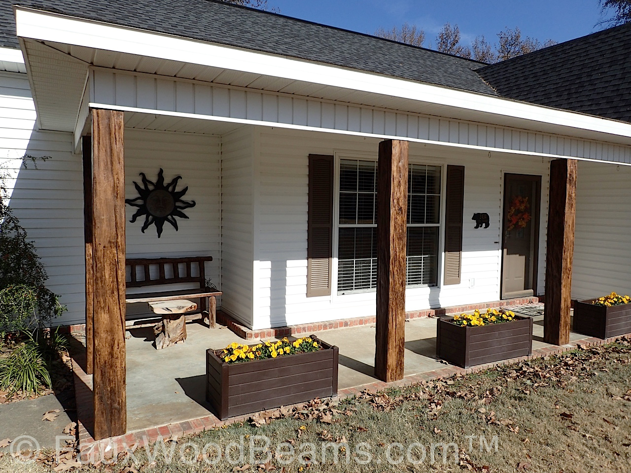 Wood Beams On Front Porch Porches Ideas