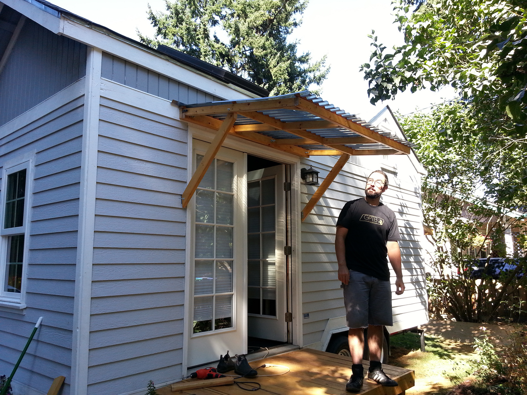 Door Overhang Plans Wooden Canopy Roof Porch Awning ...