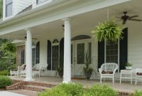 Exterior Fetching Image Of Front Porch Decoration Using Round White throughout proportions 728 X 1087