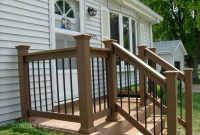 Fabulous Wood Front Porch Railing Ideas With Designs Swings Railings inside sizing 2848 X 2136
