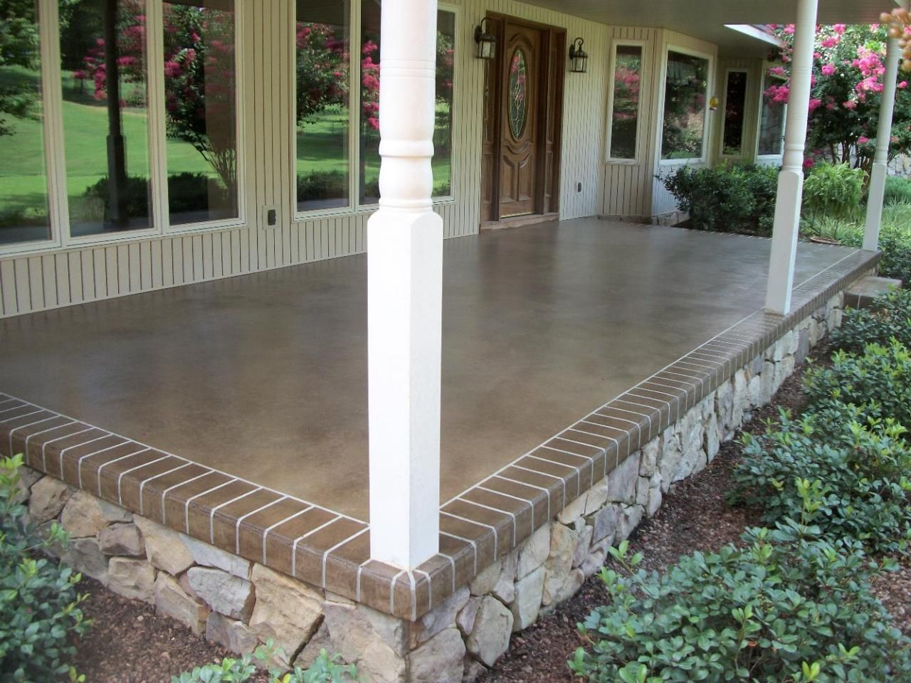 Front Or Back Porch Idea A Base Of Desert Sand And An Overspray with regard to dimensions 1280 X 960