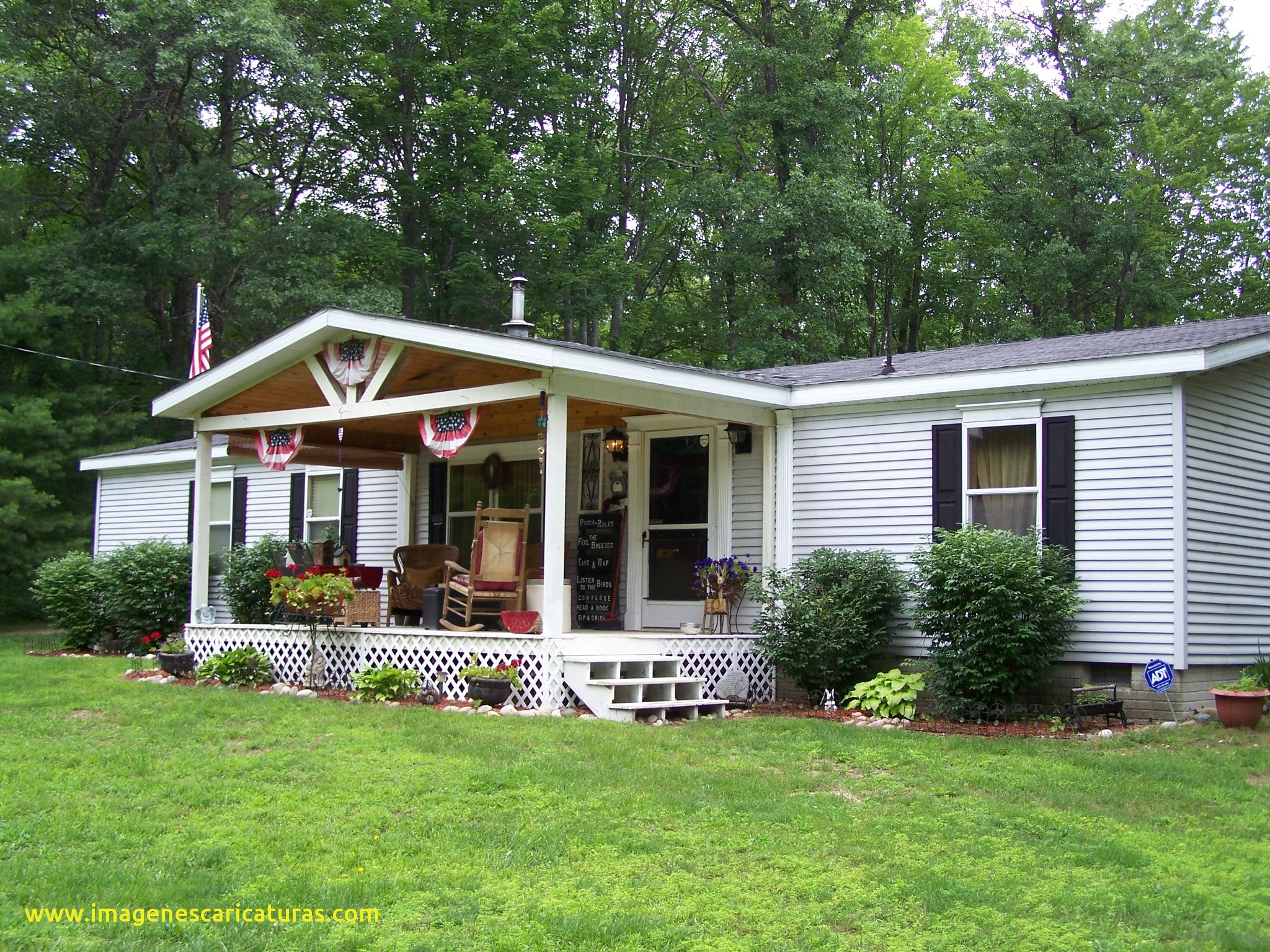 Front Porch Designs For Double Wide Mobile Homes • Porches Ideas