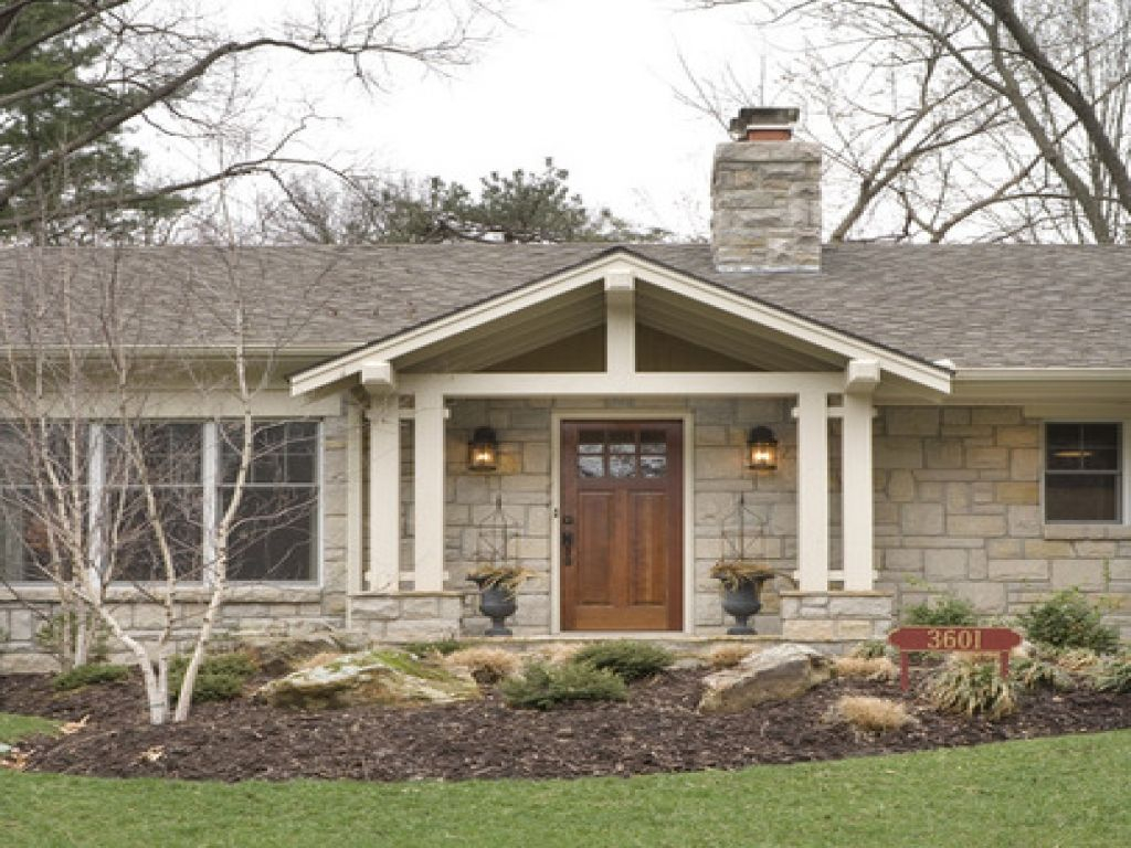 Front porch ideas ranch style house porches ideas - Front porch designs for brick homes ...