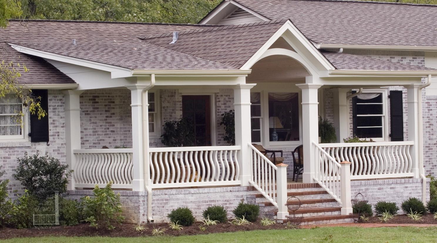 Front Porch Roof Designs Porches Ideas