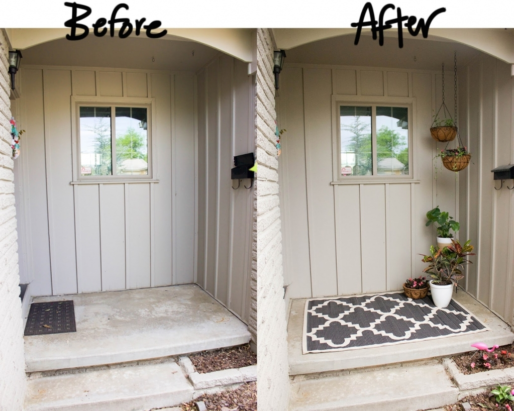 Front Porch Makeover Before And After Porches Ideas