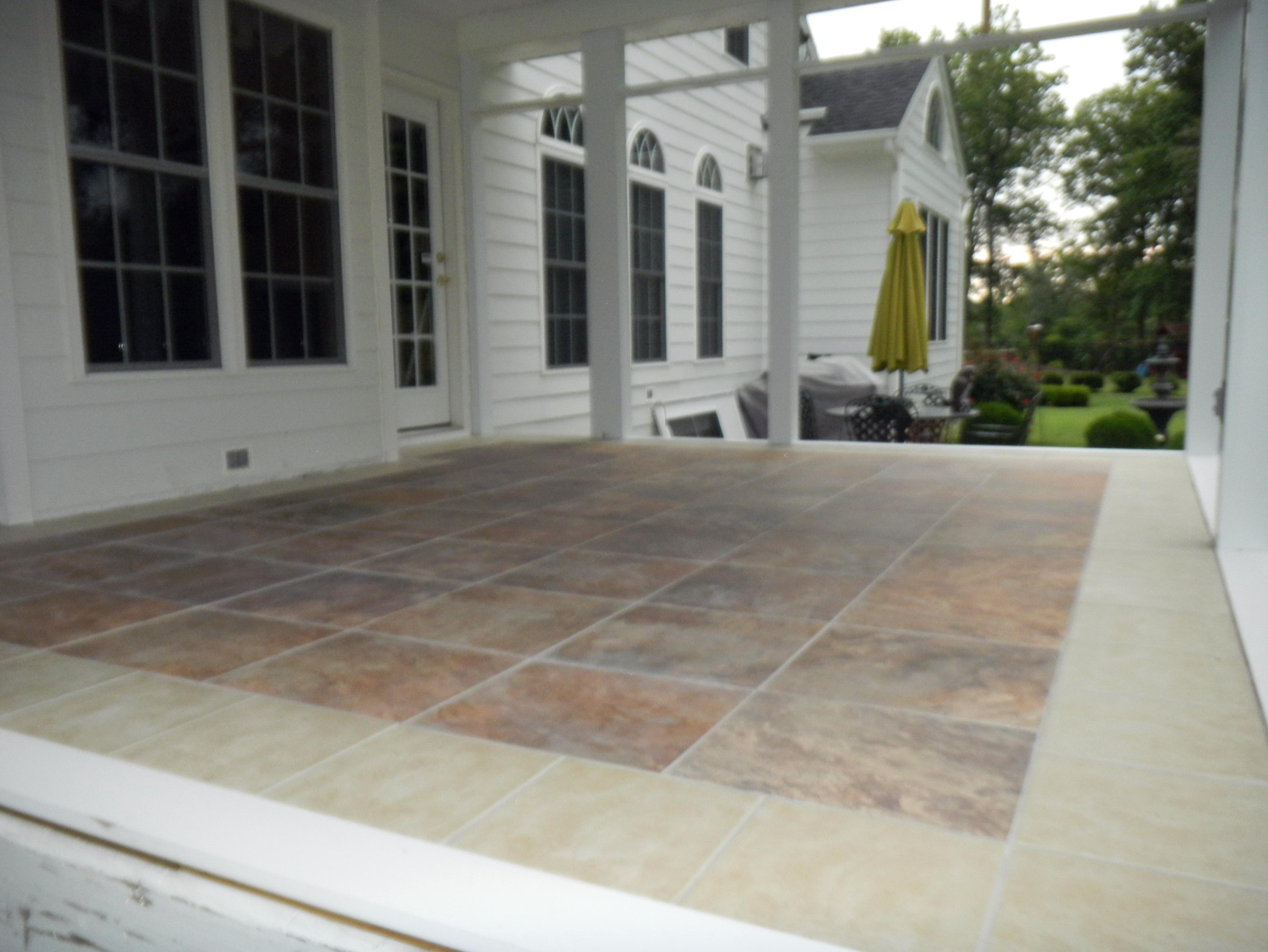 Front Porch Tiles Design Porches Ideas