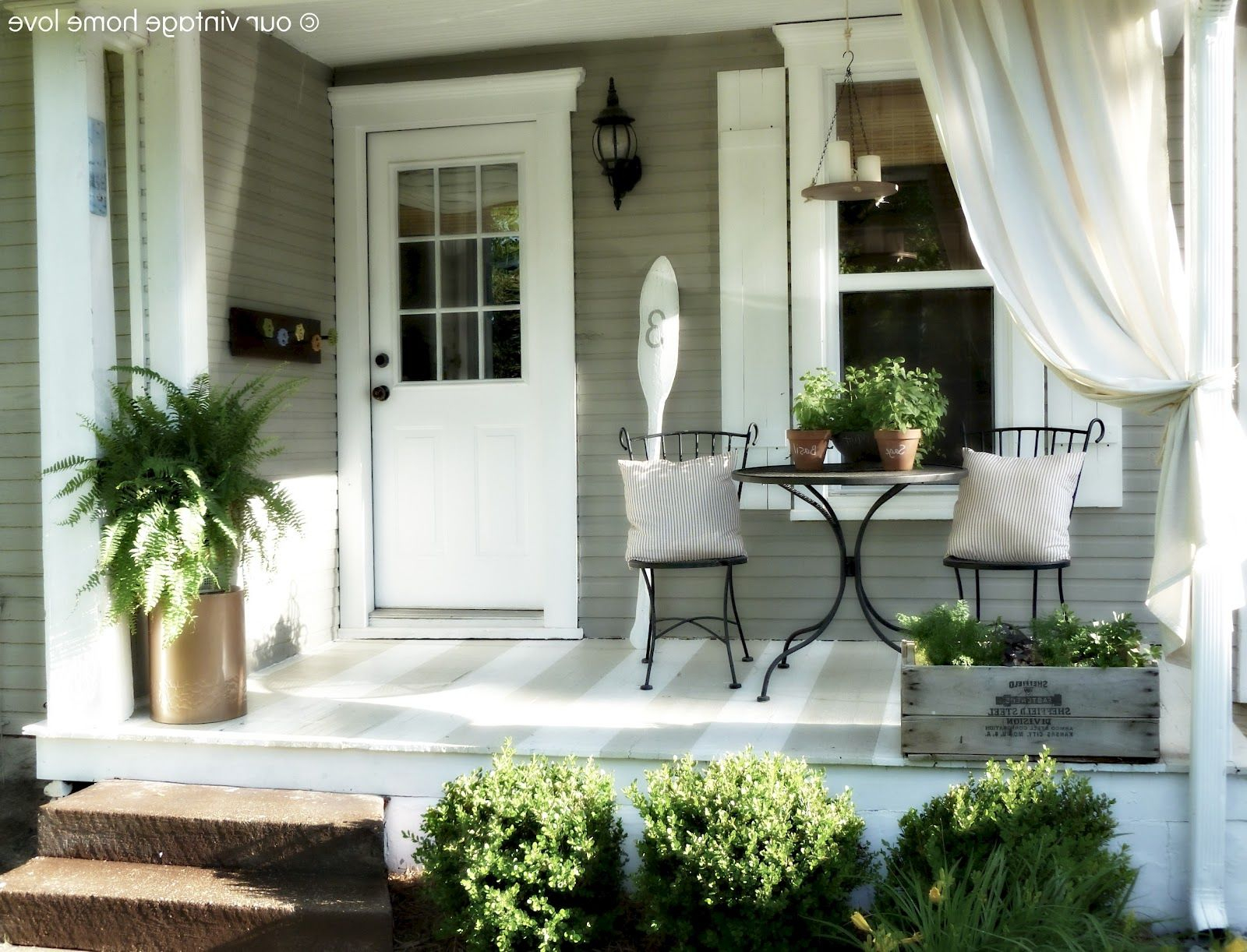 Narrow Front Porch Furniture Ideas Porches Ideas