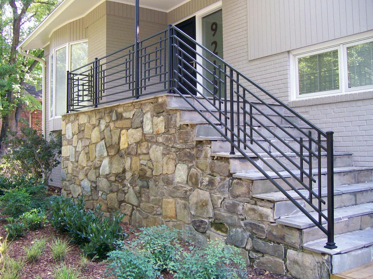 Merveilleux Great Porch Stair Railing Stairs Decoration Install An Oak Porch Throughout  Measurements 1280 X 960