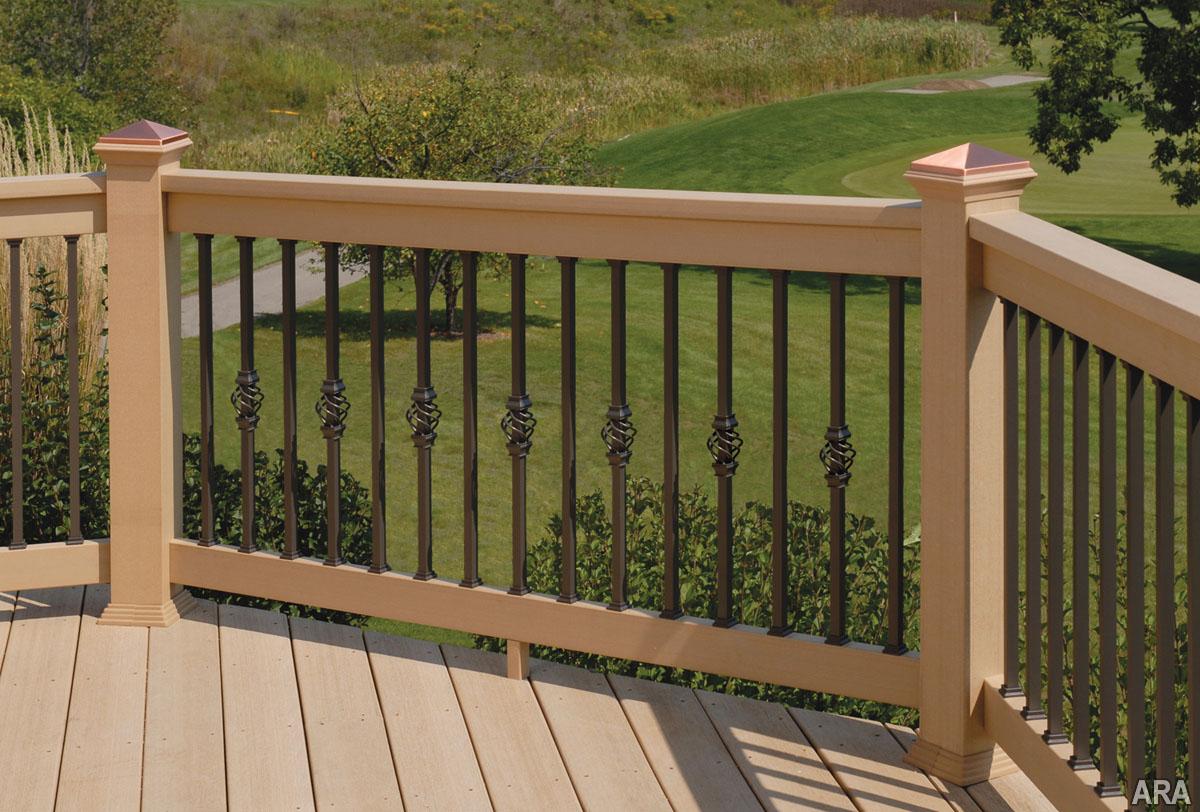 Wrought Iron Deck Railing Designs Porches Ideas