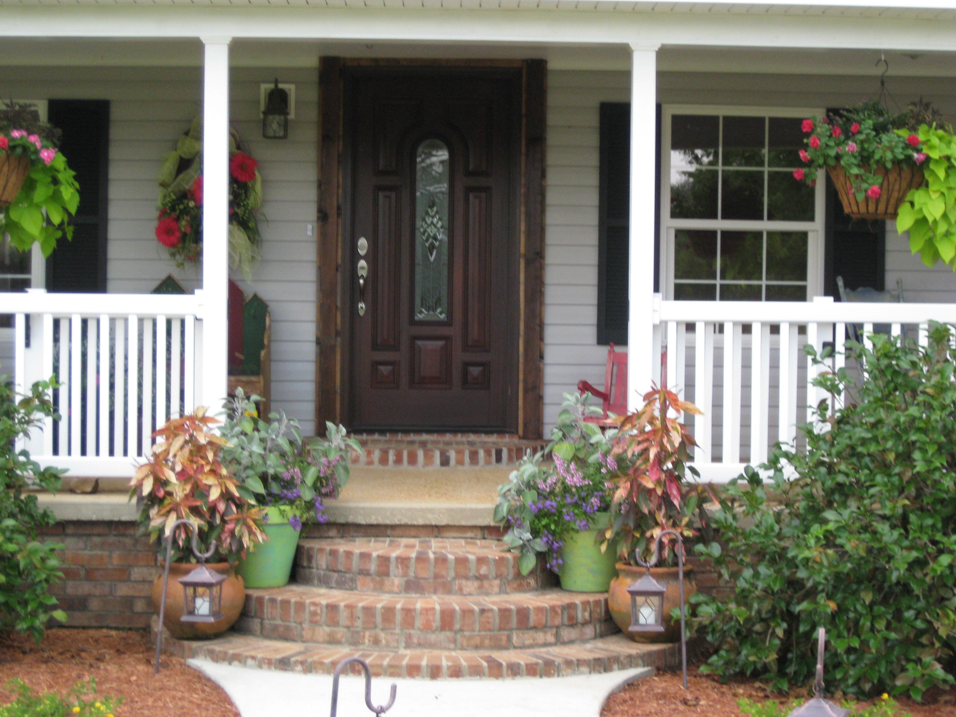 Front Porch Entrance Decorating Ideas Porches Ideas