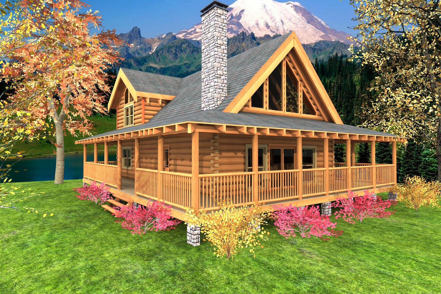 Mountain Crest Log Home Custom Timber Log Homes with size 1536 X 1024