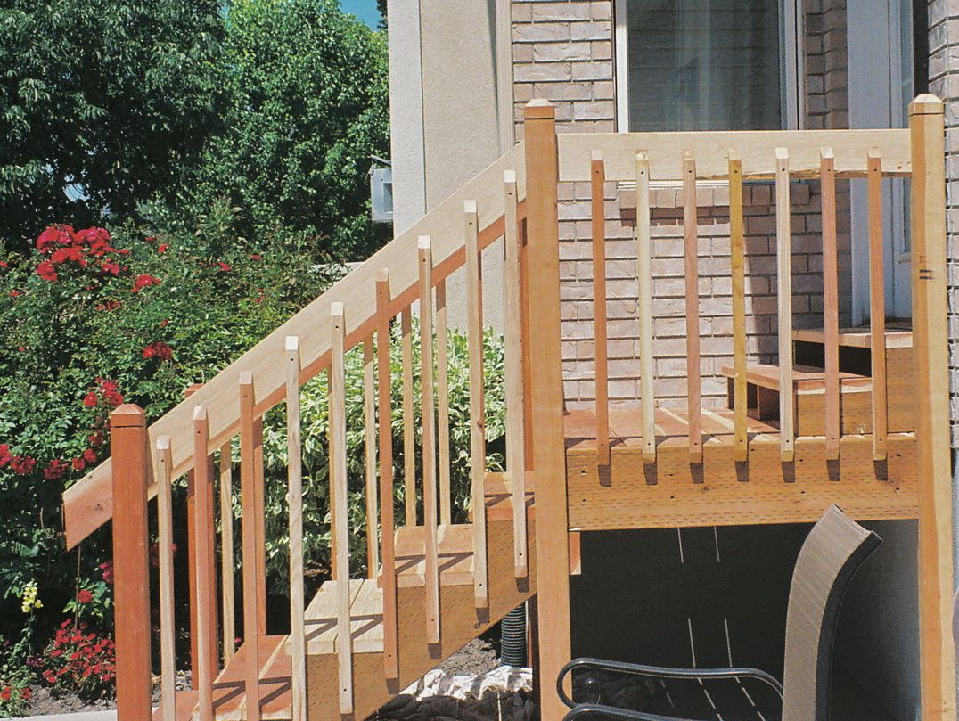 Nice Porch Stair Railing Stairs Decoration Install An Oak ...