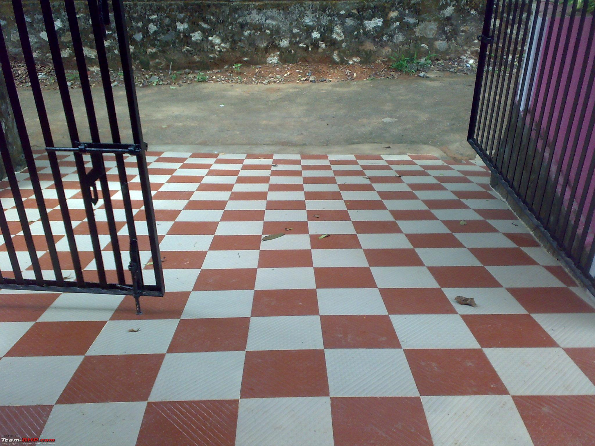 Car Porch Tiles Design Pattern In Kerala Porches Ideas