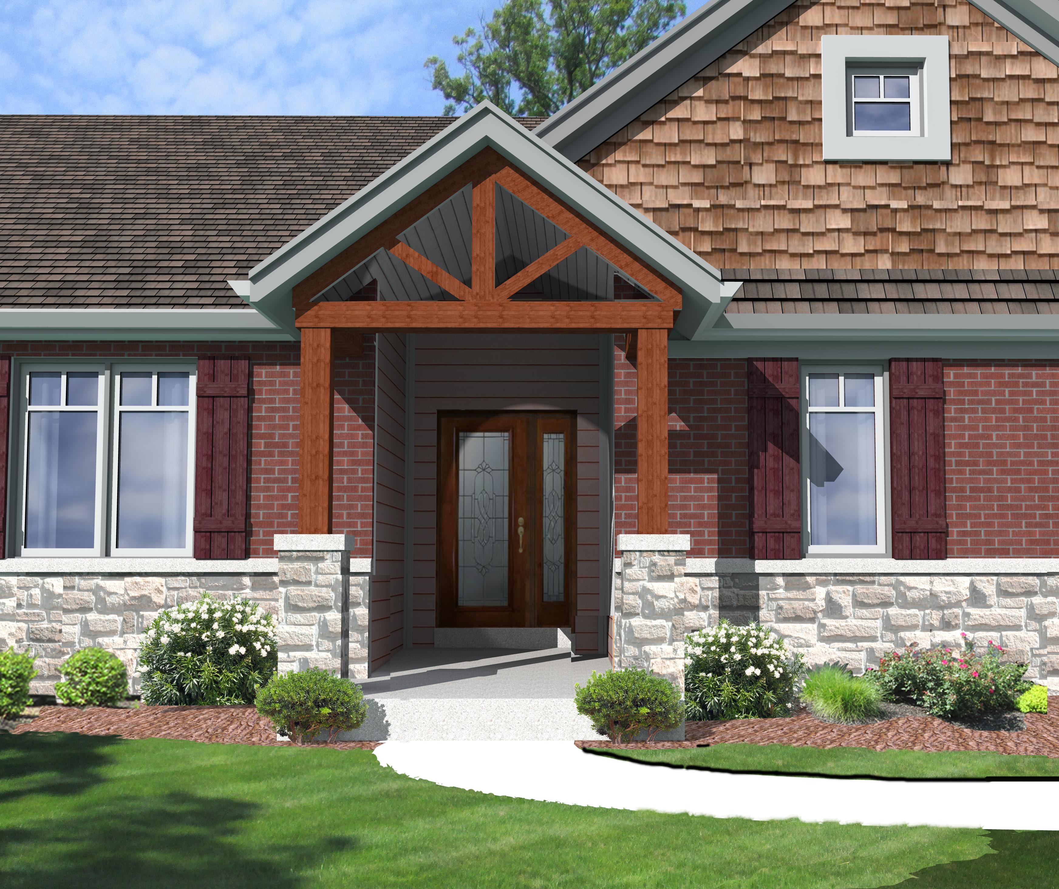 Front Porch Open Roof Porches Ideas