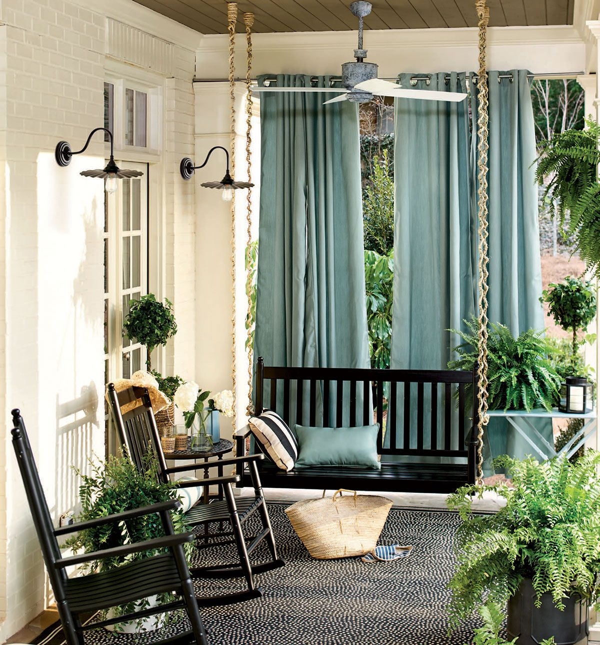 Front Porch Ideas With Curtains • Porches Ideas