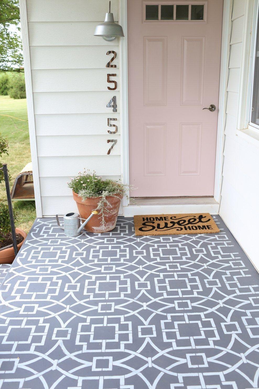 paint front porch cement porches ideas