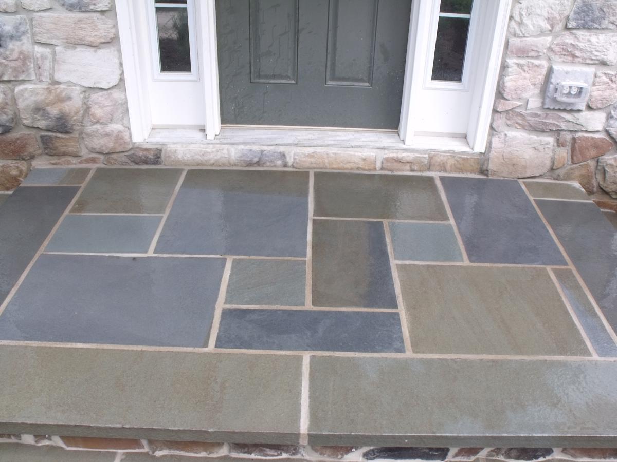 Front Porch With Bluestone Porches Ideas
