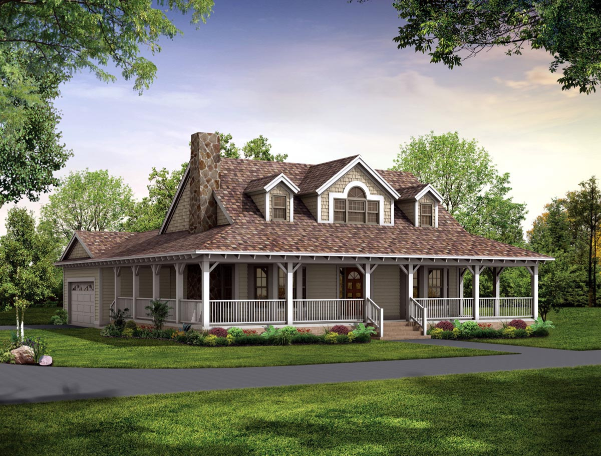 Perfect Story House Plans With Wrap Around Porch One Porches Large  Regarding Dimensions 1200 X 912