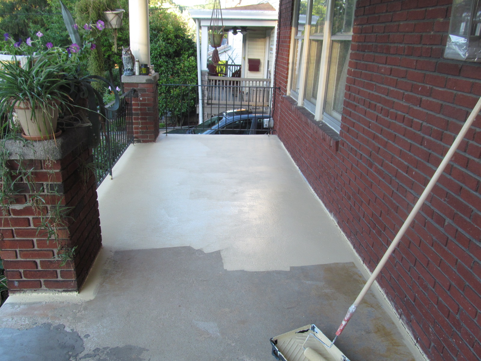 Painting Concrete Front Porch Floor