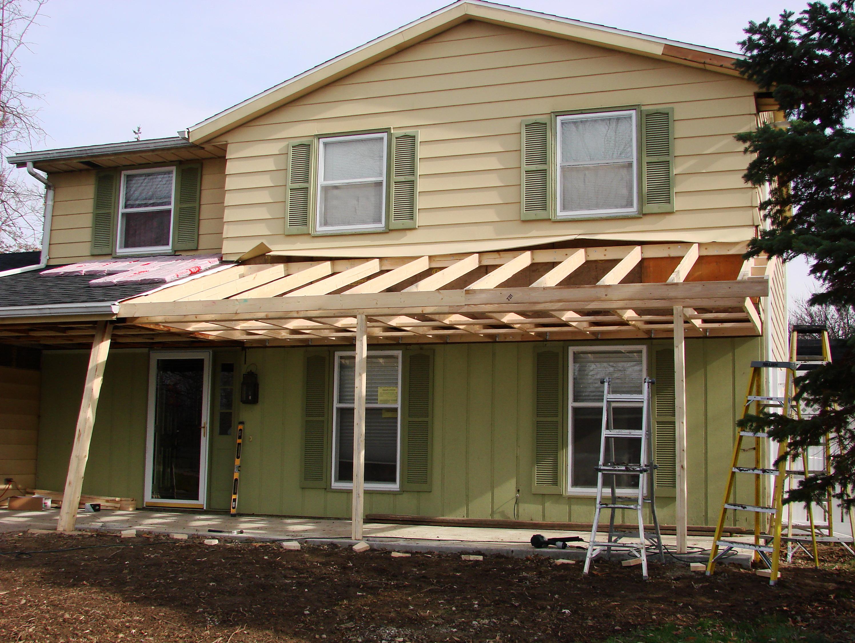 porch roof construction details home design ideas regarding size 2992 x 2249 - Porch Roof Framing