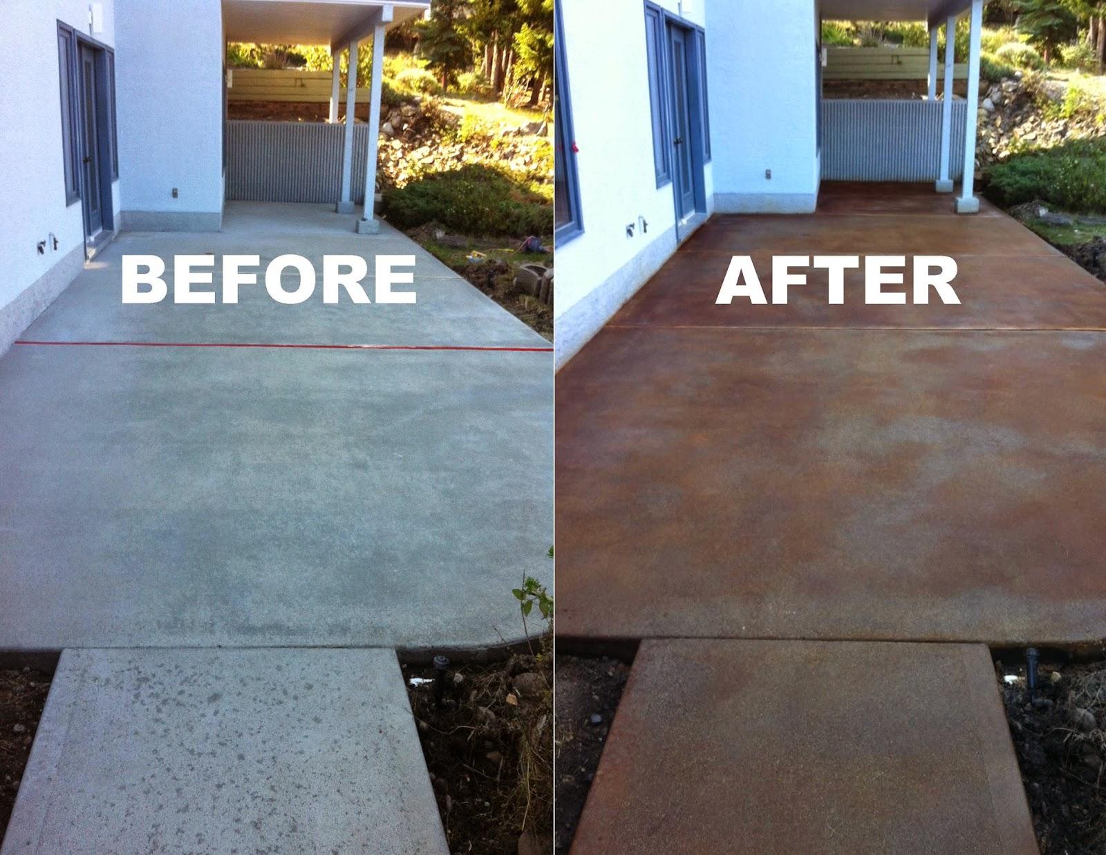 Staining Concrete Porch Floor Porches