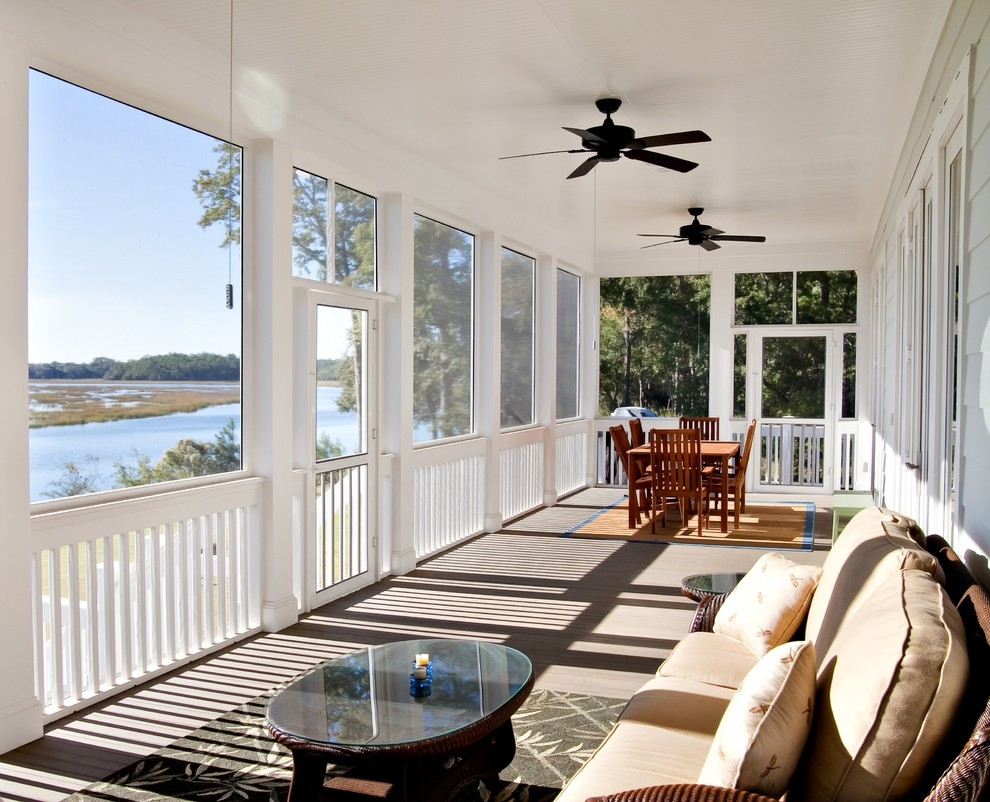 screen porch ceiling fans in porches traditional with area rug fan intended for dimensions 990 x - Porch Ceiling Fans