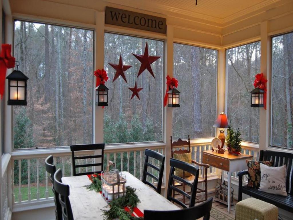 Enclosed Back Porch Porches Ideas