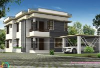 Separate Car Porch Flat Roof Home Kerala Design Floor Plans Home for sizing 1600 X 1066