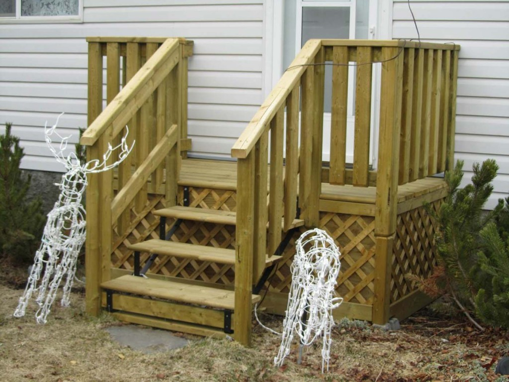 Simple Porch Stair Railing Stairs Decoration Install An Oak regarding proportions 1024 X 768