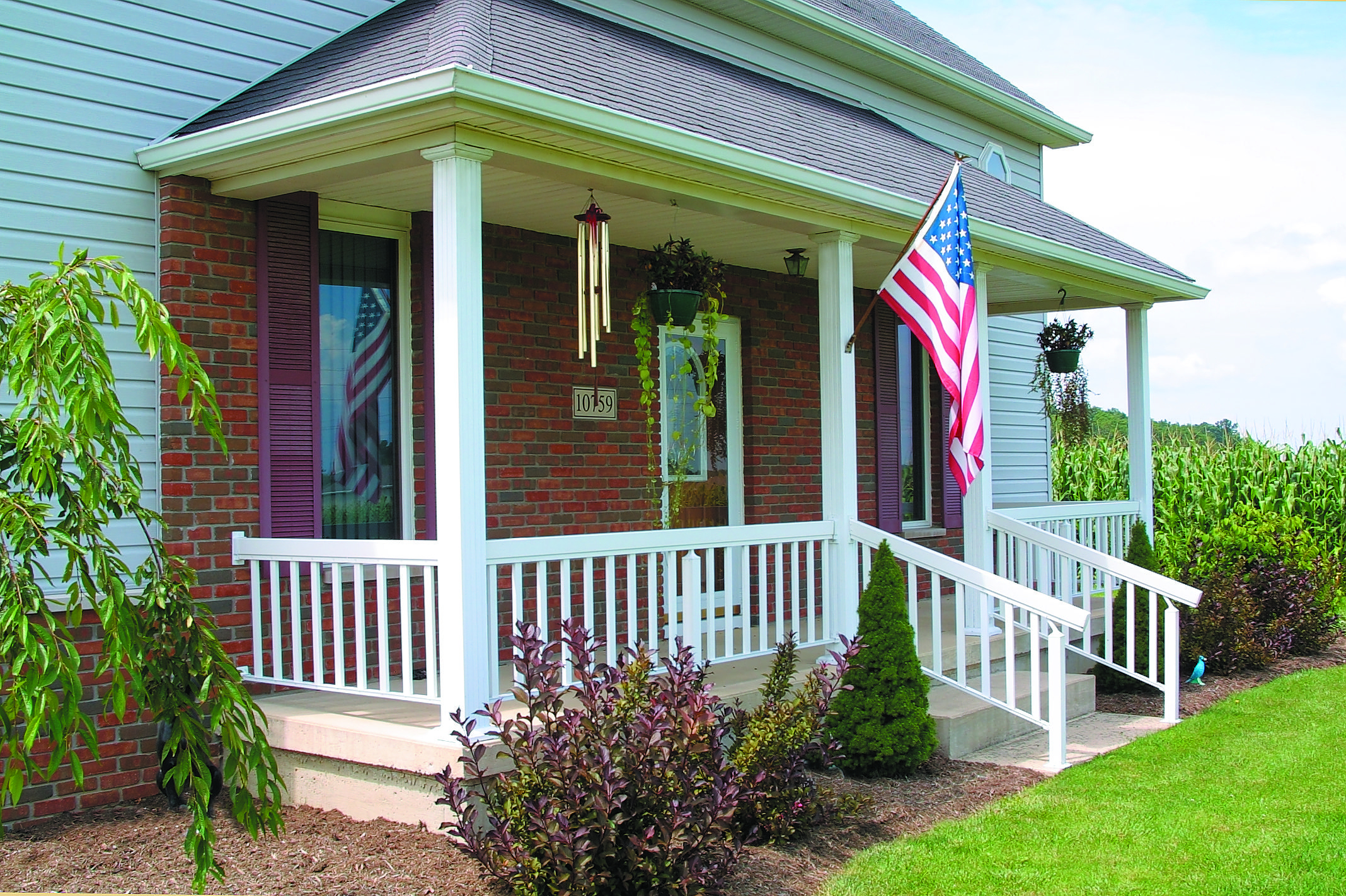 Image of: Ideas Front Porch Columns And Railings Porches Ideas