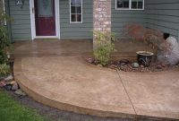 Stained Cement Porch Concrete Walkway Ideas Cement Walkways with regard to dimensions 2048 X 1536