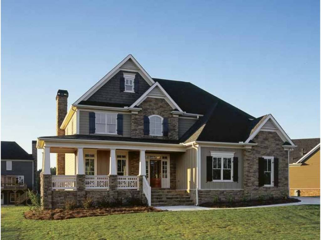 Country home designs with porches review home decor for Concept home plans review