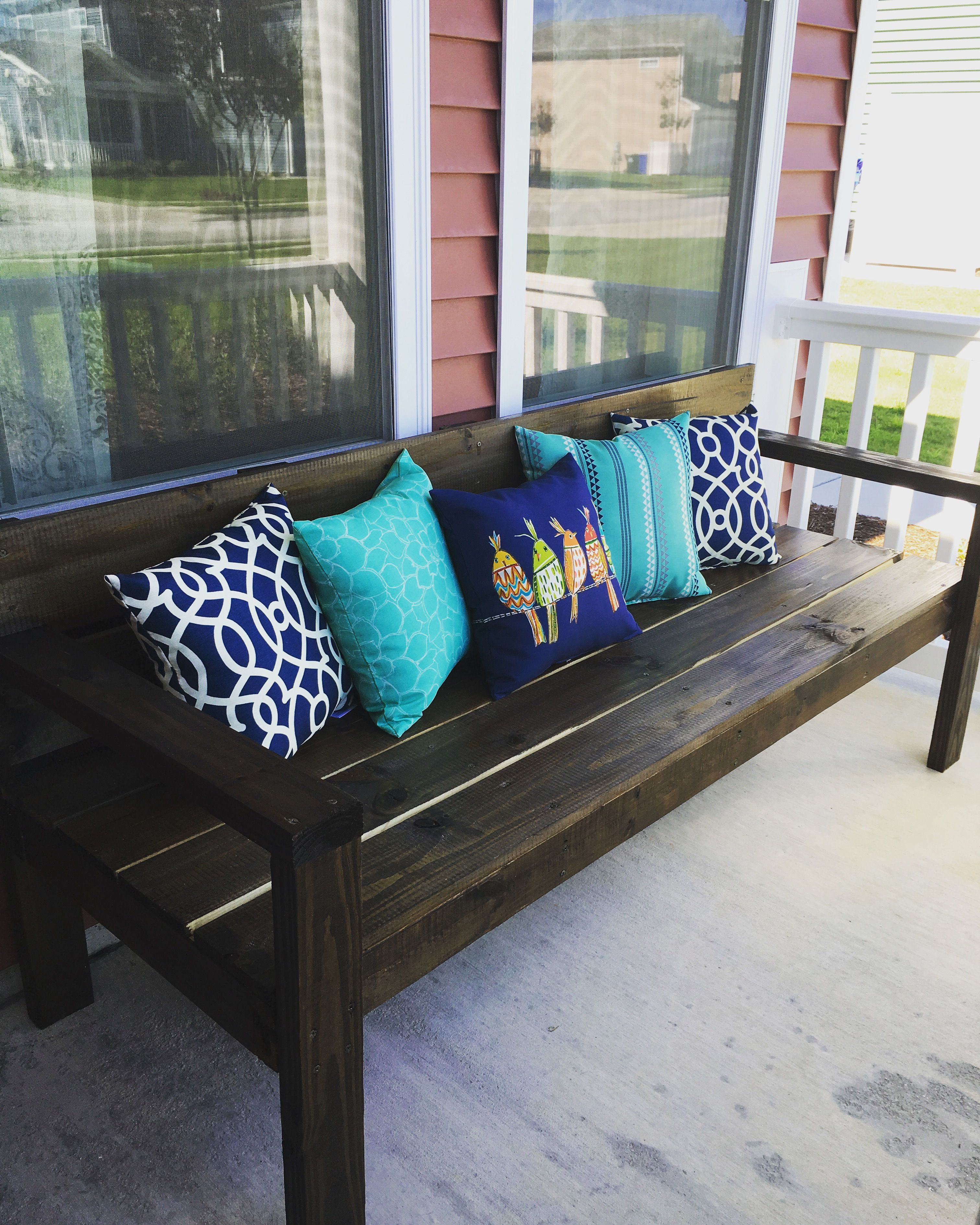 Summer Front Porch Diy Bench Ana White Plans Garage Doors with regard to measurements 3024 X 3779