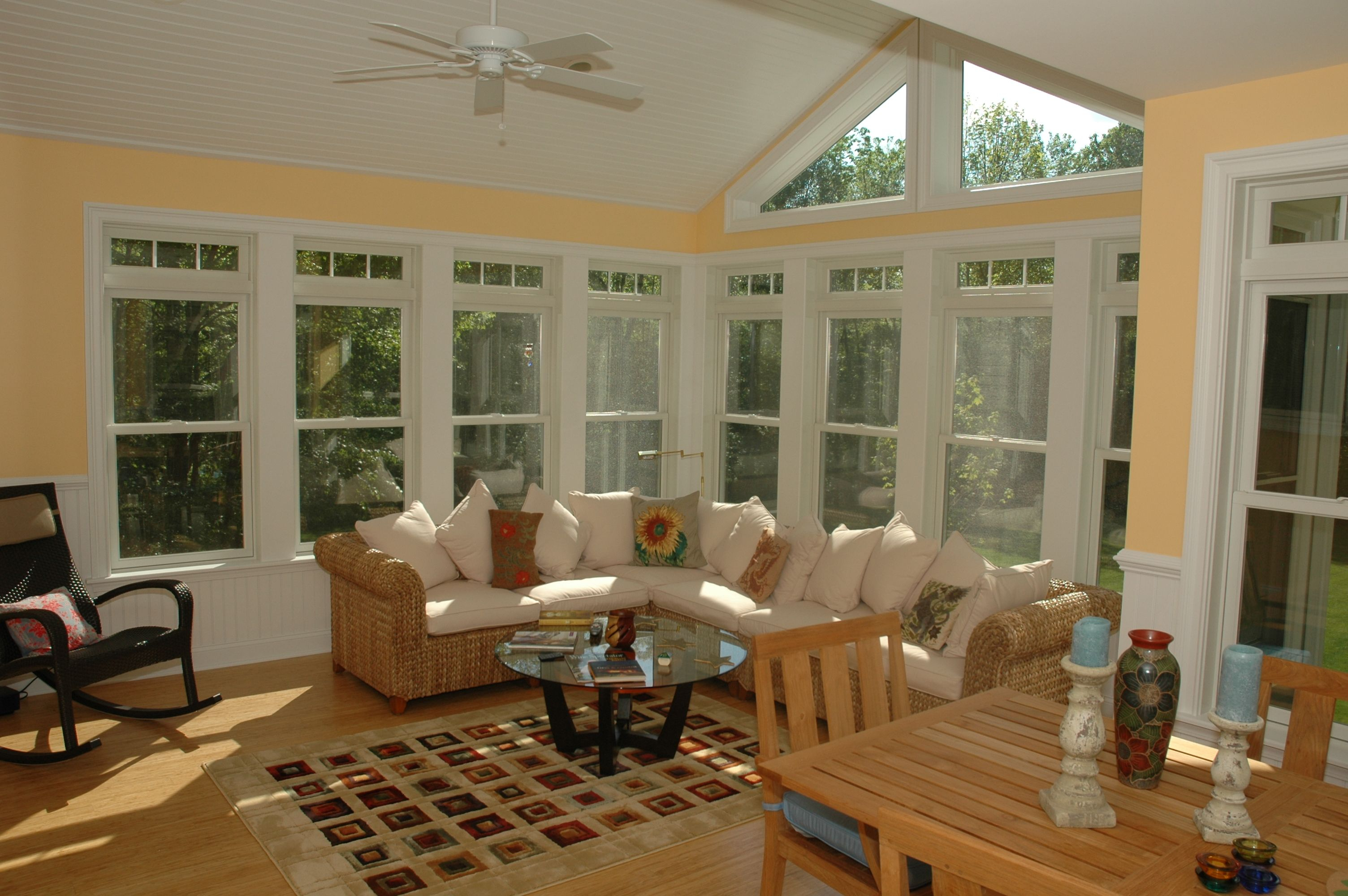 White Sunroom With Fan