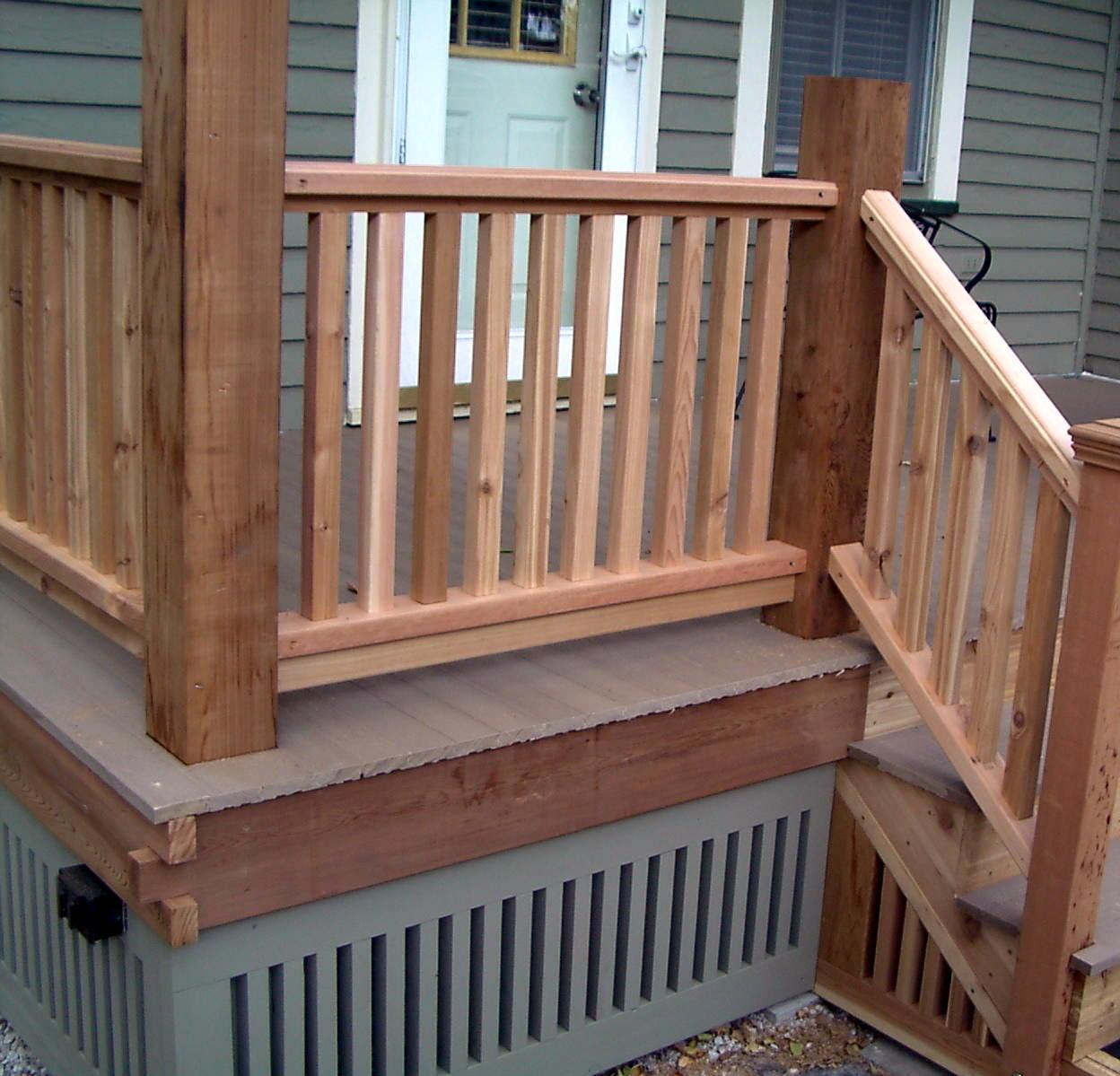 Simple Porch Rail Designs • Porches Ideas