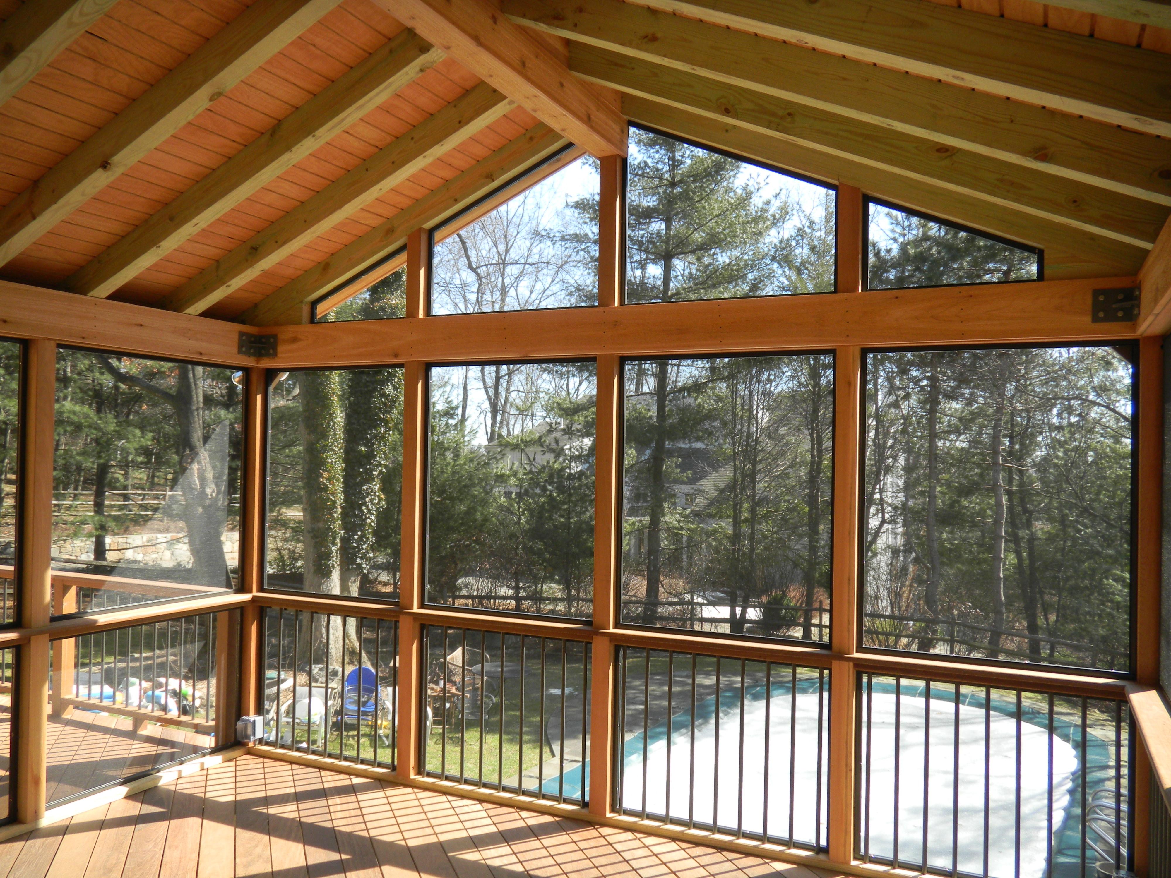 wood under porch ceiling amazing brushed bronze frames custom screen regarding sizing 4000 x 3000 - Wood Under Porch Ceiling