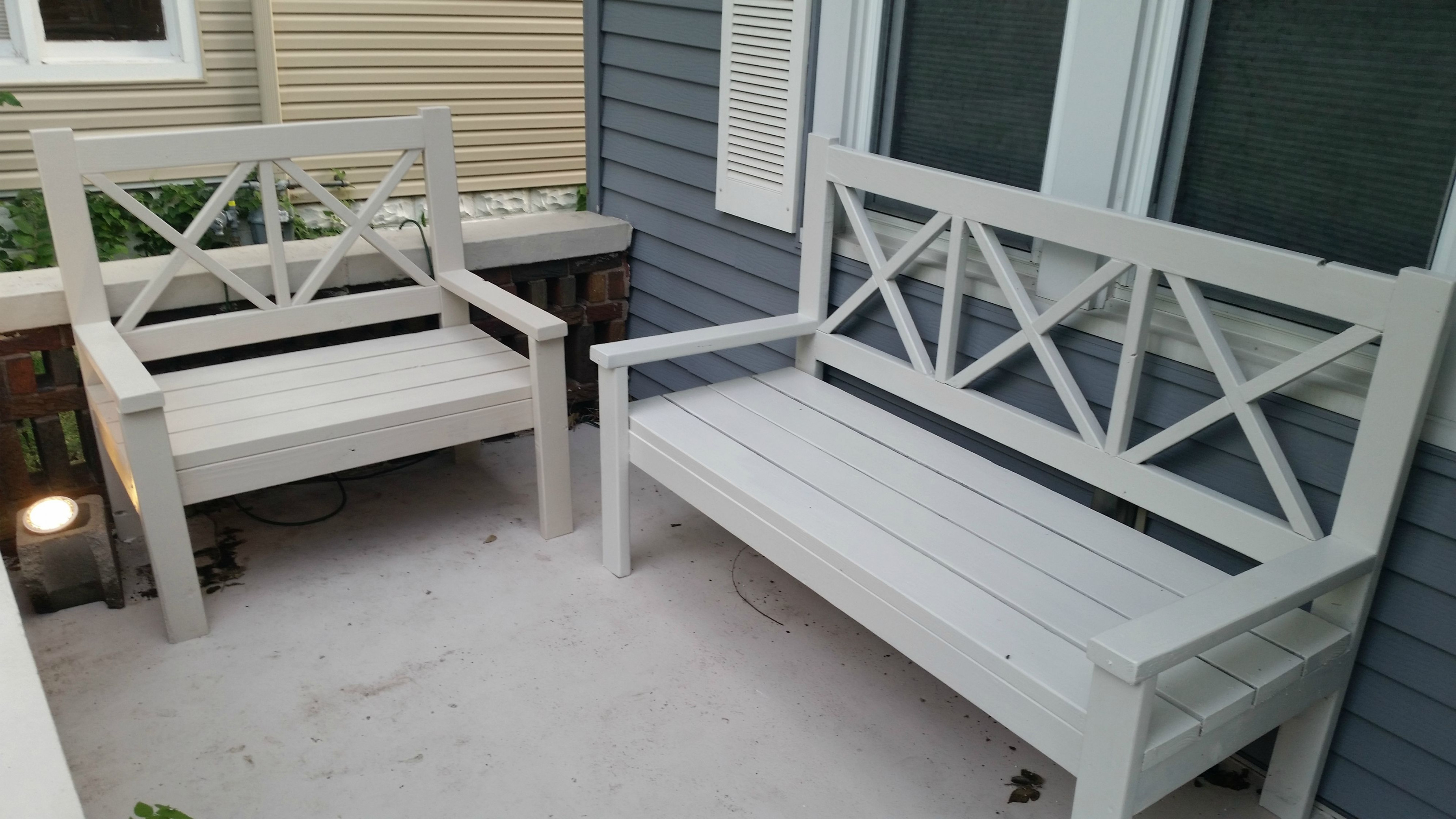 Wooden Benches For Front Porch • Porches Ideas