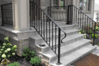 front porch steps handrails