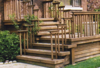 front porch steps wood